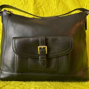 Coach Charlie Leather Hobo 29881 - Black